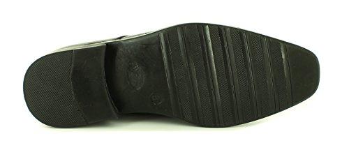 Surge Hombre Cierre de Encaje Zapato de Vestir - Negro - GB Tallas 6-13