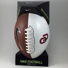 NIKE Men's Oklahoma Sooners Official NCAA Autograph Signing Football, Size (Nike Autograph Football)