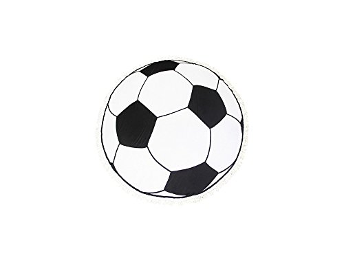 Occasions Gift Giving Sport Themed Round Beach Throw Cover Up with Tassels (Soccer Ball Print) by Occasions Gift Giving