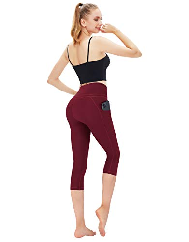 EvenYoga Yoga Pants for Women,High Waist Full Length Leggings with Pockets Tummy Control Workout Running Pants,7\