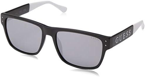 GUESS Factory Logo Retro Square Sunglasses