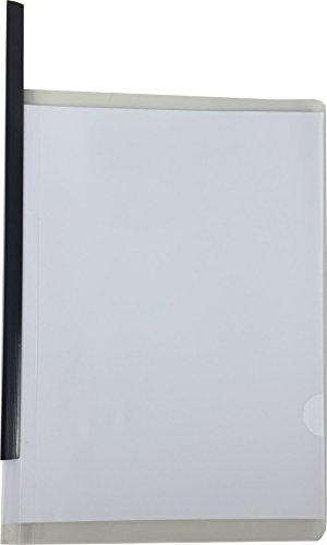 Cypress Lane Report Covers with Sliding Bar, Clipbar Presentation Slidebinder Files (20 pcs, 20 page capacity, black)