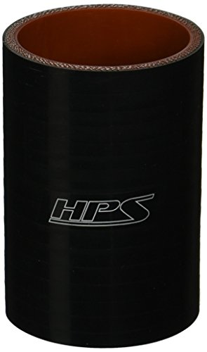HPS HTSC-238-L4-BLK Silicone High Temperature 4-ply Reinforced Straight Coupler Hose, 85 PSI Maximum Pressure, 4