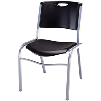 Amazon Com Lifetime 42830 Stacking Chair Black With