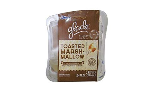 4 GLADE PLUGINS SCENTED OIL REFILL TOASTED MARSHMALLOW FRAGRANCE AIR FRESHNER