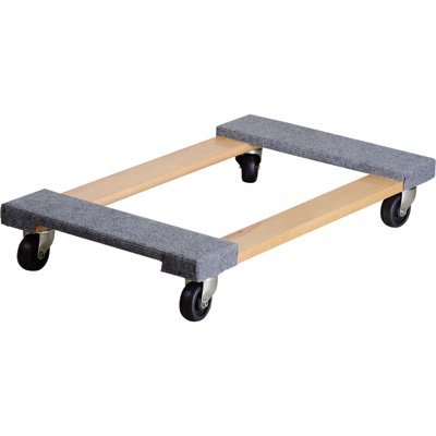 Ironton Carpeted Mover's Dolly - 1,000-Lb. Capacity, 30in.L x 18in.W