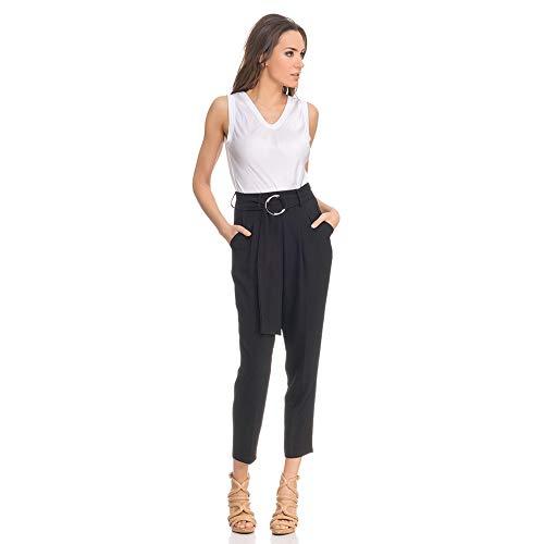 Taille Pantalon Femme Noir À Tantra Haute Droit wtdnqACA