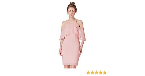 Ever-Pretty Women Fashion Pink Short Bridesmaid Dresses 04053 at Amazon Women s  Clothing store  546cdfcc5