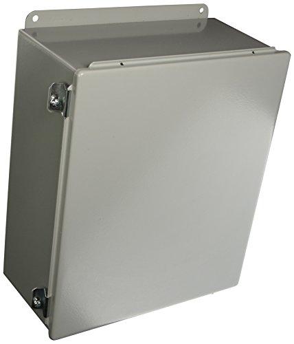 Hoffman A1412CH J Box, NEMA 12, Hinged Cover, Steel, 14.00