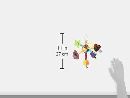 TOMY Lamaze N/œud Surprise Noeud Multi-Activit/és L27128 Peluche B/éb/é /à Clip pour Berceau ou Poussette Jouet d/Éveil B/éb/é avec Miroir et Anneau de Dentition Convient /à Jouet /Éducatif