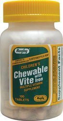 - Children's Chewable Vite 100 Tabs by RUGBY LABORATORIES
