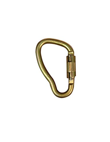 Elk River 17440 Fall Rated Steel Curve Carabiner with Auto Twist-Lock, 3600 lbs Gate, 1