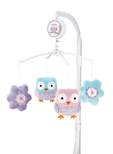 owl crib mobile for girl - 2