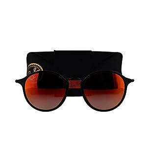 Ray-Ban RB2447 Sunglasses Shiny Black w/Mirror Gradient Red Lens 9014W RB 2447