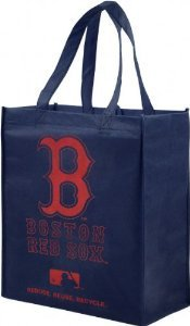 Forever Collectibles Boston Red Sox Reusable Blue and Red Lunch Bag - Small