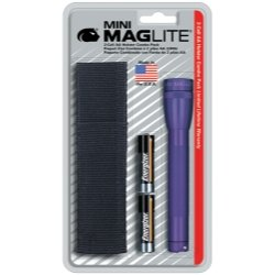 Mag Instrument Mini-MagLite Purple Flashlight Kit with Holster and 2 AA Batteries - MAGM2A98H 3 Minimag Aa Lights