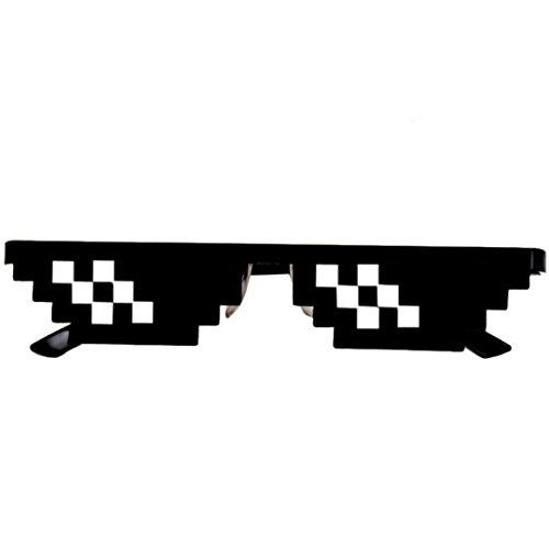 Sunglasses Toy, Loyalt Kids Sunglasses Bulk, Thug Life Glasses 8 Bit Pixel Deal With IT Sunglasses Unisex Sunglasses Toy (Black - Meme Kid Sunglasses