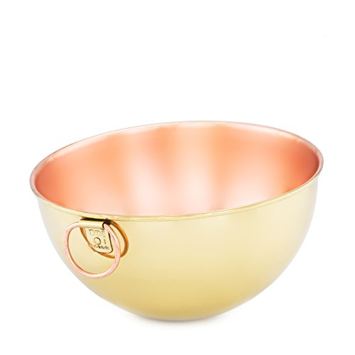 Copper Champagne Bowl (Old Dutch 5 Qt. Solid Copper Beating Bowl W/ Champagne Tone Finish)