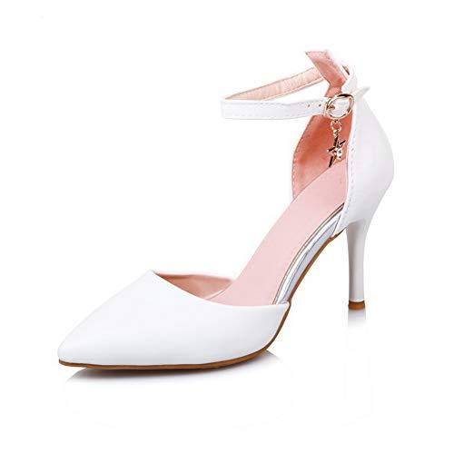 Compensées SLC04303 Blanc AdeeSu Sandales Femme Ex1vfwvnCq