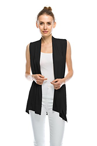 J Doe Style Womens Lightweight Sleeveless Open Front Cardigan(Size:S-5X)