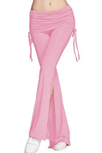 Les Yoga Long D'amour Côté Pink Fusée Et Bootcut Lettre Fitness Femmes Ruched Tranché Pantalon 5a7xngwHwq