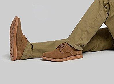 TOOGOO(R)NEU Veloursleder Europaeische Stil Leder Schuhe Herren Oxfords laessig Kamelfarbe 9 - 999
