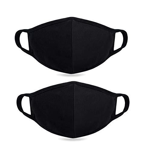 Black Ninja Mask (Fine dust mask, Anti-dust Flu Protection Best Warm Windproof Mask - 100% Cotton Face Masks Comfy Respirator - Mouth Masks Anti Pollution Washable Reusable Pollen Masks for Men Women 2)