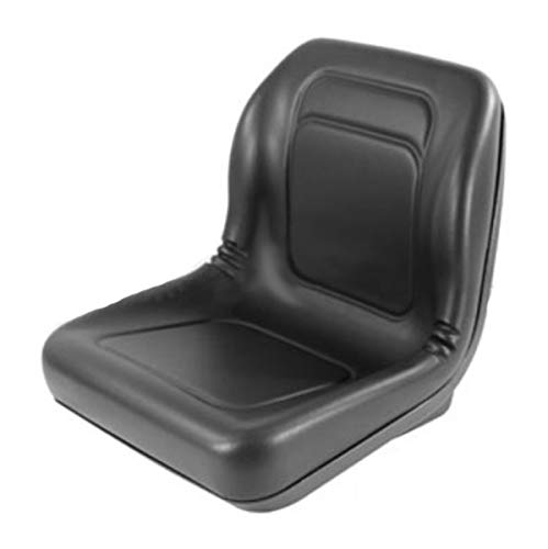 Replacement High Back Black Boomer Seat for Riding Makes and Models Lawn Mowers by RAPartsinc
