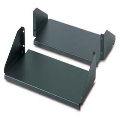APC AR8422 Rack shelf - black (pack of 2 ) - for NetShelter 2 Post Open Frame Rack, 4 Post Open Frame -