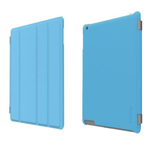 Incipio iPad 2 Smart Feather - Back Cover Only - Ultralight Hard Shell Case - Light Blue