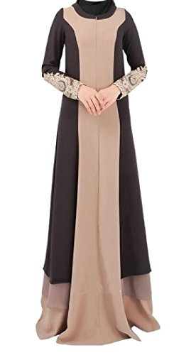 SportsX Womens Stitch Long Sleeve Turkey Muslim Abaya, used for sale  Delivered anywhere in USA