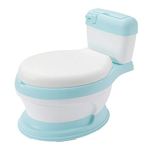 JNewdiva Baby Toddler Training Potty - Adjustable Toilet Trainer Seat Joy Baby My Potty Baby Toddler Training Potty with Cushioned Seat Ring for Babies, Toddlers and Kids (Blue)