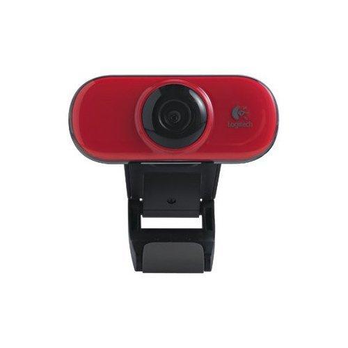 Logitech C210 Webcam RED, Model: C210, Electronics & Accessories Store