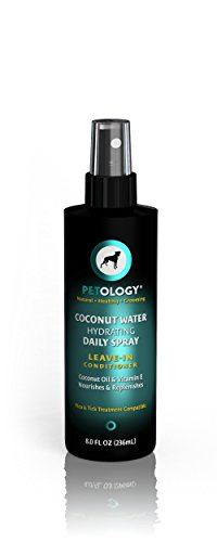 Detangling Spray For Dogs - Coconut Water Hydrating Daily Spray - Leave-In Conditioner With Coconut Oil & Vitamin E - Tropical Coconut Scent - 8 oz