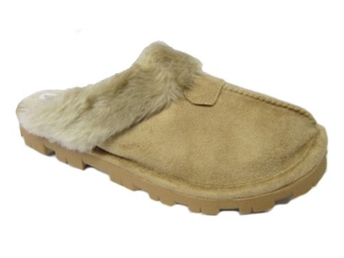 Jyoti - Zapatillas de estar por casa para mujer marrón claro