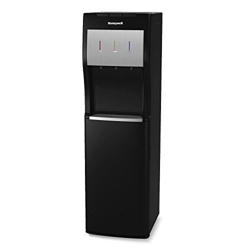 Honeywell HWBL1013B 40-Inch Freestanding Bottom Loading Water Cooler Dispenser with Hot, Room and Cold Temperatures with Superior Water Pump, Black by Honeywell