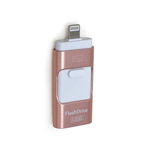 H&T 3.0 USB Flash Drive for iPhone External Storage, 3 in 1 USB Memory Stick with Micro USB for iPhone Ipad and Android,C,8GB