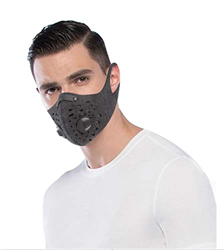 FM1 N95 Sports Outdoor Running Cycling Elastic Face Mask with Filter Activated Daily Reusable Carbon Anti-Pollution PM2.5 Anti Dust Protection...