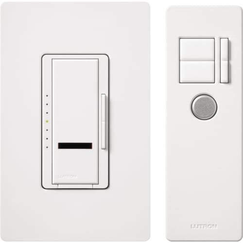 Lutron MIR-1000MT-WH Maestro IR 1000-Watt Multi-Location Dimmer with IR Remote Control, White - Maestro Ir Dimmer