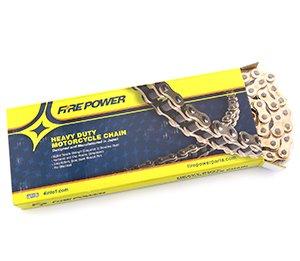 - Fire Power Heavy Duty Gold Motorcycle Chain - 530 - 110 Link