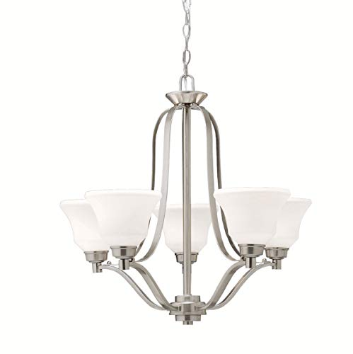 Chandeliers 5 Light Fixtures with Brushed Nickel Finish Medium Bulb Type 27