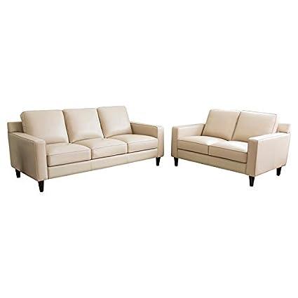 Amazon.com: Abbyson Living RX-6637-CRM-3/2 Whittier Sofa and ...