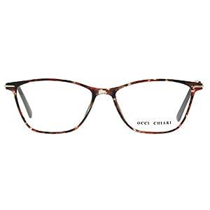Eyewear Frames-OCCI CHIARI-Rectangular Eyeglasses Frame with Clear Lenses (Flower, 52)