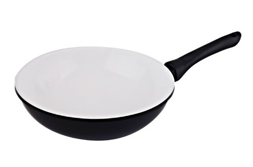 Vinaroz Die Cast Aluminum wok with Ceramic Coating 30-Cm, ()