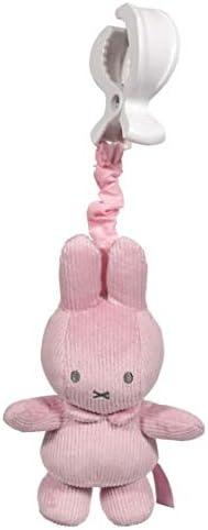 Tiamo NIJN612 Miffy Hase Cord vibrierendes Aufziehtier f/ür die Babyschale rosa