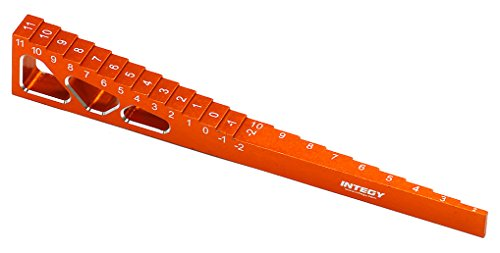Integy RC Model Hop-ups C24817ORANGE T2 Ride Height+Droop Gauge+Chassis Gauge for 1/10 Size Touring Car Chassis ()