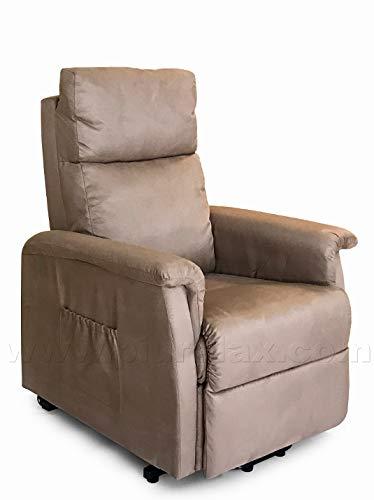 Poltrone Relax Anziani.Poltrona Relax Elettrica Per Anziani E Disabili Alza Persona Reclinabile Beige