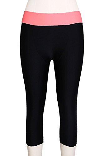 ZKESS Women's Capri Pants Swim Legging Tankini Shorts Tankinis Bottom Capris Swimsuit Small Size Black