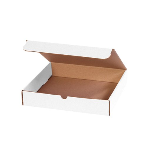 "Nice Aviditi M3RB Corrugated Literature Mailer, 11-3/4"" Length x 10-3/4"" Width x 2-1/4"" Height, Oyster White (Bundle of 50)"