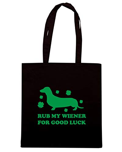 Borsa GOOD FOR WIENER Shopper TIR0173 Nera LUCK RUB GREEN MY Fqr6FUw